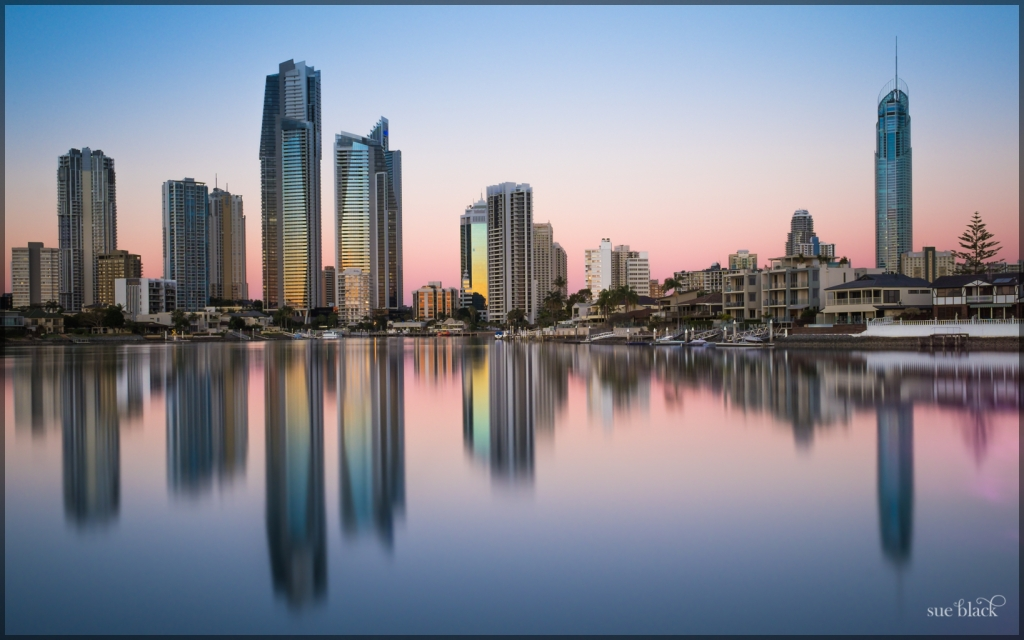 Gold Coast Winter Sunset reflections